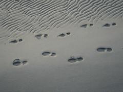 "Foot Prints in the Sand (""M"" PEARL) Tags: sky beach sand footprints whiterock lateafternoon blueribbonwinner mpearl"