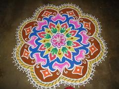 Rangoli (PreethiRajaganesh) Tags: diwali kolam rangoli rangoli9 rangolidesign preethirajaganesh