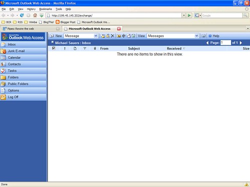 Outlook Web Access (Firefox 2.0)