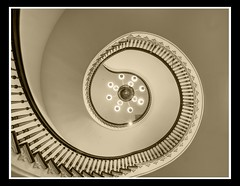 Capital Spiral Stairs (sunsurfr) Tags: building history monochrome sepia architecture stairs nikon bravo capital alabama structure explore round montgomery d200 hdr spiralstaircase spiralstairs photomatrix nikonstunninggallery aplusphoto outstadingshot ultraselected sunsurfr