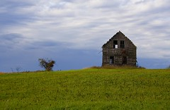 Rural Decay - Color (kotobuki711) Tags: wood sky house fall field wisconsin rural decay farm fields parkfalls