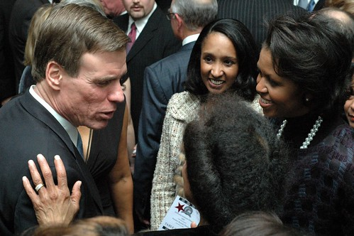 Michelle Obama & Mark Warner