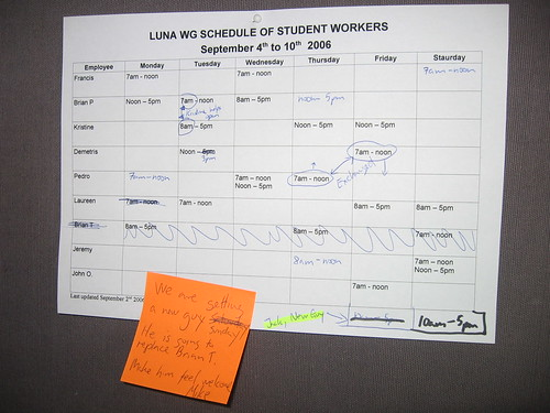 simple work schedule
