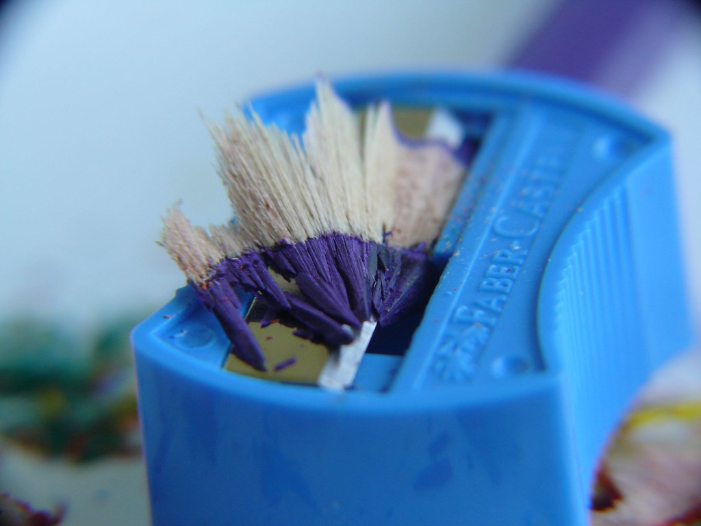 Macro Photography - Pencil Shaving and Sharpener