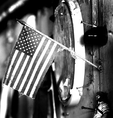 Crusty Flag (jmurphpix) Tags: wood old bw barn flag cobweb american figure joemurphy josephlmurphy jmurphpix