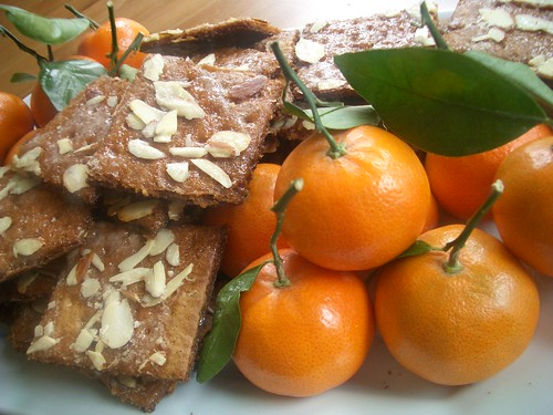 almond bark cookies & tangerines
