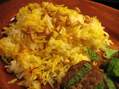 basmati rice with cinnamon and saffron