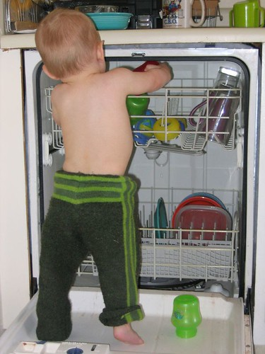 Up in the dishwasher