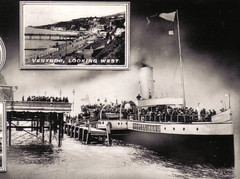 The Ryde Queen in the 1940s (Guildford Ghost) Tags: postcard paddle queen 1940s steamer isle wight ryde of