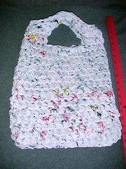 recycledbag2a (fiber.deviant) Tags: bag crochet free style plastic purse form recycling freeform