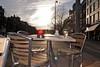 spring sunset (demarsman) Tags: sun amsterdam terrace ricohgrdigital firsttest springinamsterdam onasunnyday finallyanothercamera