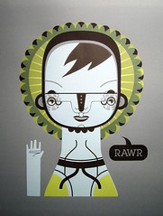 My first Screen-printing (malota) Tags: illustration drawing screenprinting rawr dibujo ilustracin serigraphy serigrafa