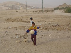 Kids playing Soccer in Luxor