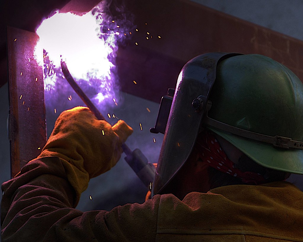 Arc Welding in chinatown SFO... HDR