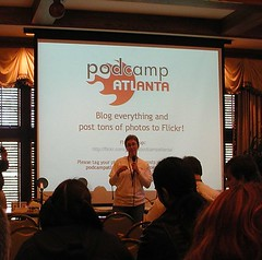 Amber Rhea at Podcamp Atlanta 2007