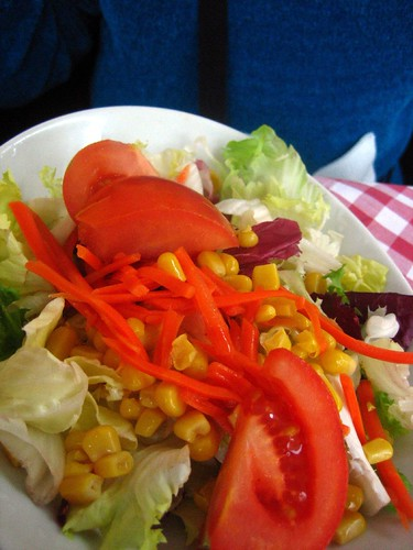 An ill-advised salad.  What's up with the corn on everything?