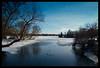 Woodhull Lake (Ledio (mostly away)) Tags: blue winter lake cold d50 landscape nikon michigan frozenlake peisazh nikonstunninggallery woodhulllake piesazh