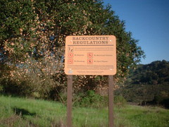 a sign on my Lafayette Reservoir hike