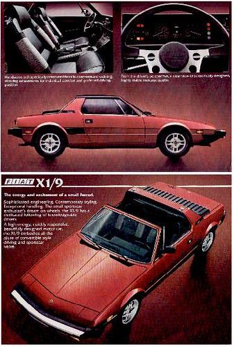 1972 Fiat X1 9. FIAT X1/9 (1972 – 1989)