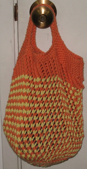 Knitting Pattern For A String Bag : Sunshine String Bag ADKD