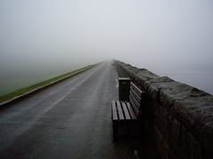 Road to Nowhere (Ruth McGuire) Tags: reservoir northernireland countydown silentvalley whatanawfulmistydaywecouldhardlyseeanything pluslynniewasnttoohappyapparentlyitwasveryspooky