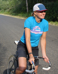 Carey of Raleigh on a fixed gear bicycle