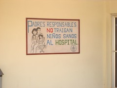 Hospital Sign - Aguadulce, Panamá