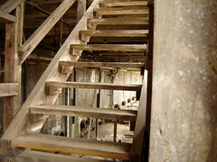 Through The Stairs (Funkomaticphototron) Tags: plant minnesota stairs concrete grey wooden ruins pipes gray cement basement abandonded mn wreckage coates lonley coryq exploringamonsttheruins slightlydangerousperhaps coryfunk