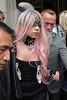LADY GAGA - MP1 (ya8np1) Tags: ladygaga eyemask lace lacey black pink dipdyehair hair cross collar silver diamonte jewel jeweled fan strapless london uk