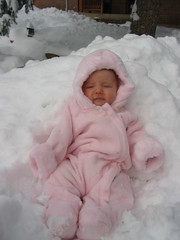 Look at my cute snow suit
