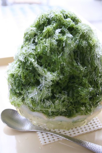 greentea shaved ice
