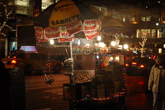 Christmas Hot Dog Stamd (lowlight168) Tags: nyc slr digital d50 50mm nikon lowlight168