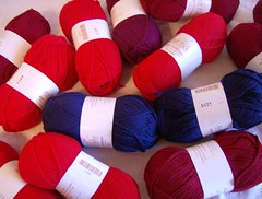 Red Scarf Project yarn