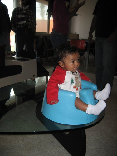 akello in the bumbo