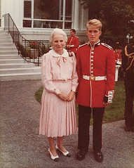 Former Governor-General Mdm. Jeanne Sauve (retired) - Ottawa 1985 (Mikey G Ottawa) Tags: greatbritain ontario proud army gg marine searchthebest military country capital guard navy rep royal palace parade queen gb government service merchandise merch airforce buckingham federal parliamenthill reserves sacrifice armedforces represent protect serve summerjob royals thequeen representative reservist governorgeneral palaceguard oversea canadiangrenadierguards ceremonialguard armymike toserve ottawahull mikeygottawa madamejeannesauve queensrepresentative jeannesauve inserviceof fieldorderly