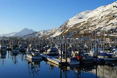 DSC01113 (13 Photography) Tags: mountain reflection water alaska docks boats bay fishing sony alpha kodiak a100