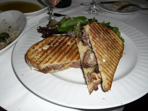 Hanger Steak with Wild Mushroom Sandwich