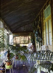 verandah with different floor