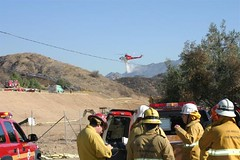 LAFD, LACoFD and USFS Battle Fire in Northeast San Fernando Valley. Click to view more...