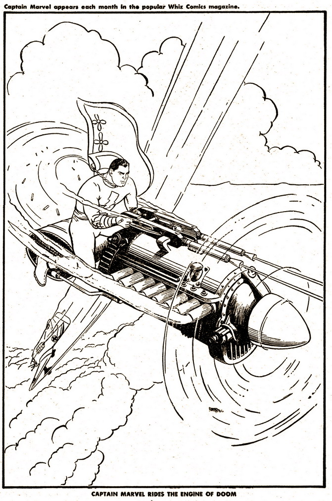 Captain Marvel Coloring Book (ENGINE OF DOOM)