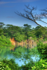 Ubin Quarry (DanielKHC) Tags: hdr photomatix orton 3xp singapore pulauubin quarry water sony alpha a100 danielcheong nature hdrmeetsorton abigfave sigma18200mm impressedbeauty dreamlike dreamy ethereal jurassic aplusphoto hdrenfrancais landscape tonemapped danielkhc