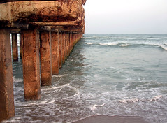 Thalankuppam-broken-pier (Ravages) Tags: world life street city travel sea urban india beach home water modern river lights coast asia hometown contemporary candid madras streetphotography photojournalism coastal slice shore record metropolis moment chennai indianarchive tamil metropolitan journalism tamilnadu global bayofbengal indianness coastalcity chennapattanam thalankuppam  visitindia visitchennai pattinam chennaipattanam keezhkadal
