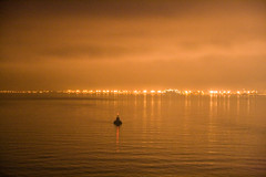 Approaching Hull (Sylvain Francois) Tags: ocean light sea england orange haven water night clouds wow reflections dawn harbor nightshot harbour kingston 1750 hull tamron channel buoy upon