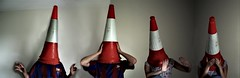 surrealism cones x2 (hool a hoop) Tags: head emo surreal anger brotherandsister trafficcones cones