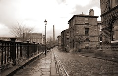 The old streets of Saltaire Village - by Paul Stevenson