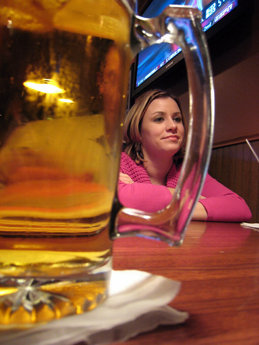 Cari at the bar.