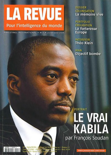 "President Joseph Kabila on cover that reads ""La Revue"". The Democratic Republic of Congo has established joint military monitoring agreements with neighboring Rwanda and Uganda in order to curb rebel activity in the eastern region of the country. by Pan-African News Wire File Photos"