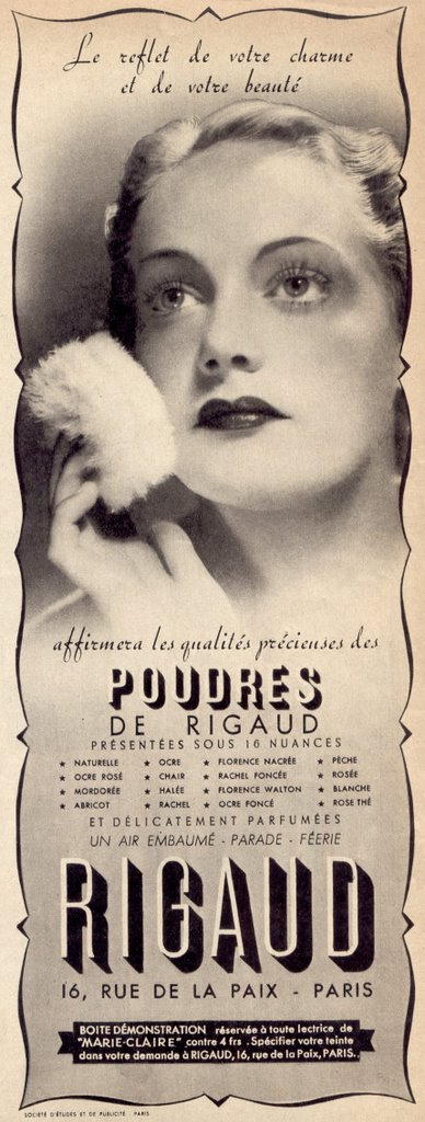 Face Powder Rigaud, 1950s
