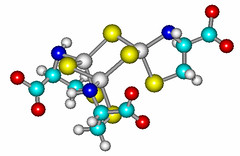cysteine-capped Zn-sulfide cluster