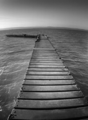The jetty out to somewhere... www.coastandboats.co.uk (jimmedia) Tags: life winter sky sun west beach water boat kirby sand yacht jetty s sail buoy wirral buoyant
